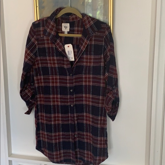 Billabong Dresses & Skirts - Billabong winter plaid shirt dress